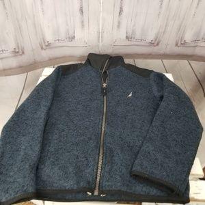 Nautica boy boat zip sweatshirt top long shirt 8